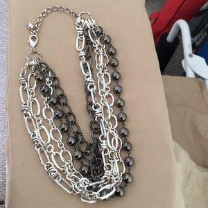 Five piece fashion necklace